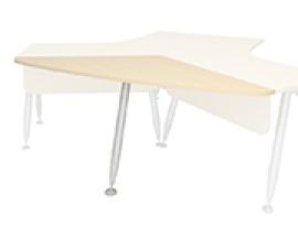 Брифинг угловой для угловых столов 120 на ноге-опоре