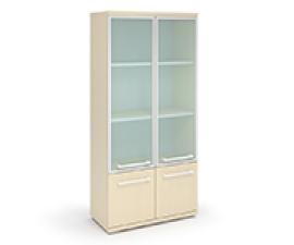Шкаф с низкими дверцами и со стеклом